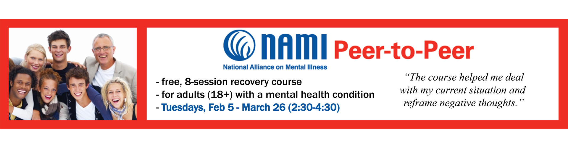 NAMI Fond du Lac Peer-to-Peer Program 2019