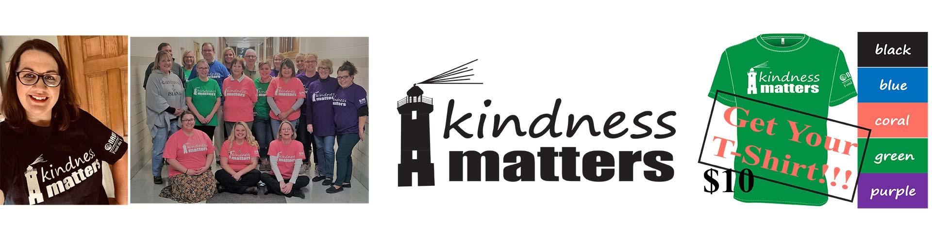 Kindness Matters Tshirts NAMI Fond du Lac